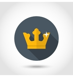 Golden crown icon vector