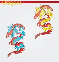 elegance religion dragon vector image