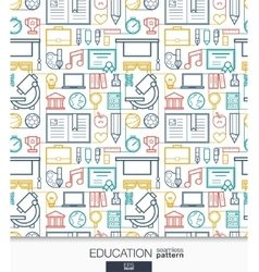 Education wallpaper school and university vector