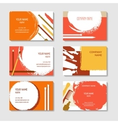 Cosmetic and beauty business cards set vector