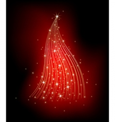 Christmas fir decorative vector image vector image