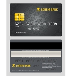 Commercial bank credit card isolated sales model vector
