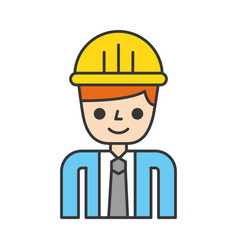 construction engineer avatar character vector image