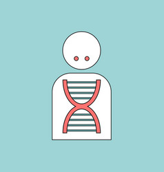 Flat icon design collection silhouette with dna vector