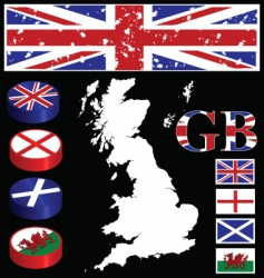 great britain collection vector image vector image