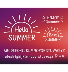 Hand drawn letters Hello summer Doodle type vector image vector image