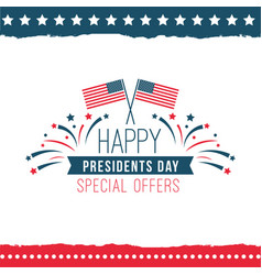 Happy presidents day special offer poster vector