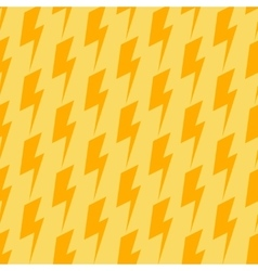 Lightnings seamless orange and yellow vector