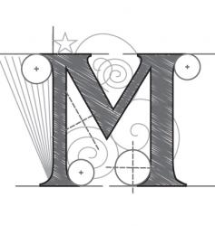 m vector image vector image