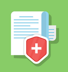 paper document is securely protected the concept vector image vector image