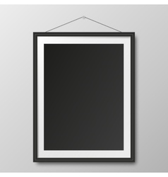 Picture frame and shadow vector image