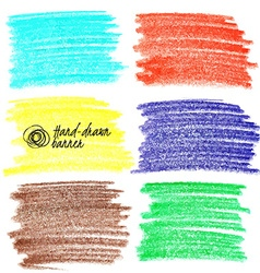 Set of colored doodle sketch banners vector image vector image