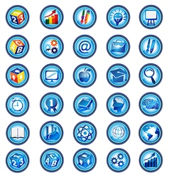 Set of education icons design vector image