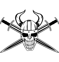 skull and sword vector image vector image