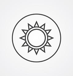 sun outline symbol dark on white background logo vector image vector image