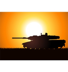 Tank Silhoutte vector image vector image