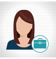 Woman files folder icon vector