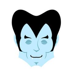 dracula sleeps emoji vampire dream emotion face vector image