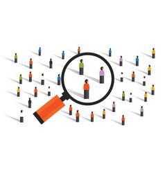 Crowd behaviors measuring social sampling vector