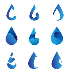 logo water collection vector image