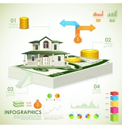 Real estate infographic vector