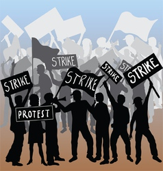 Workers strike and protest vector