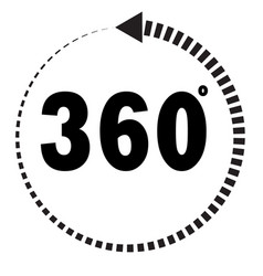 360 degrees icon on white background flat style vector image vector image