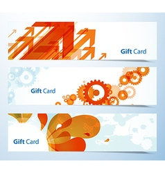 Set of banners or gift cards vector