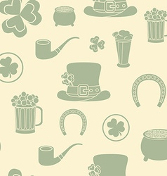 Seamless background st patricks attributes retro vector