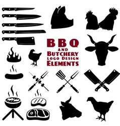butcher tools vector image