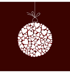 sphere of hearts vector image