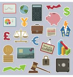 Finance stickers vector