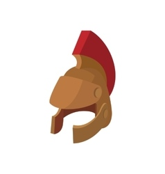 Roman legionary helmet icon cartoon style vector