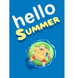 Summer hello fat man vector