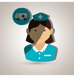 Medical emergency design vector