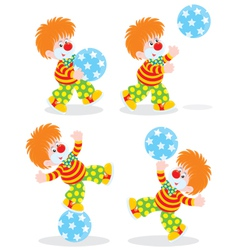 Circus clowns vector
