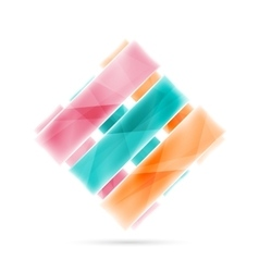 Blank colorful stripes business geometric style vector