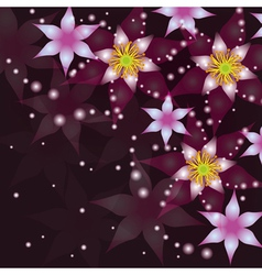 Abstract background with flowers invitation or vector image vector image