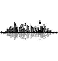 abstract silhouette of city vector image