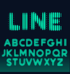 Alphabet font made with bold lines vector