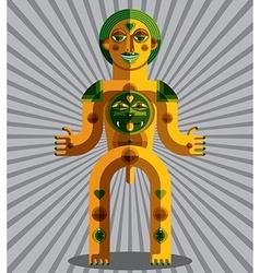 Bizarre creature cubism graphic modern pict vector