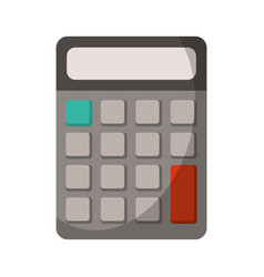 Calculator math school utensil vector