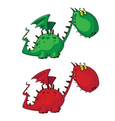 cartoon dragon vector image vector image
