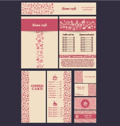 Coffee menu hand SET 5 vector image