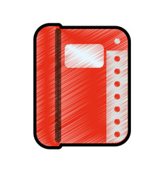 contacts book isolated vector image