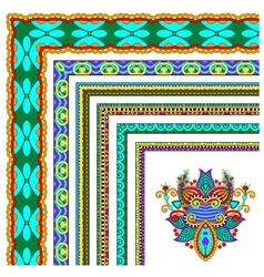floral vintage frame design set vector image vector image