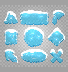 Ice and snow interface buttons vector