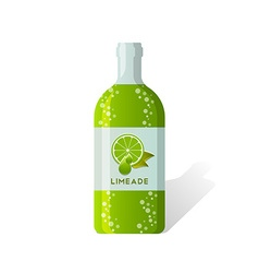 Limeade bottle vector image vector image