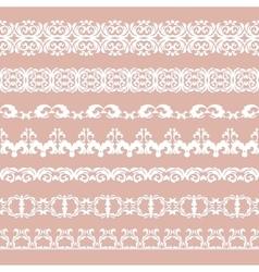 Set of borders vector