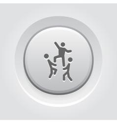 Team building concept icon grey button design vector